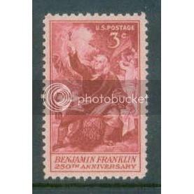 1073 3c Franklin Fine MNH Plt/4 UL 25328 Plt17730