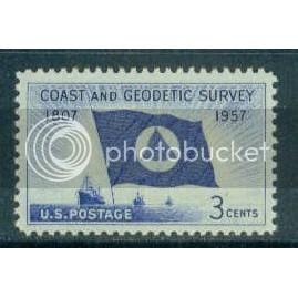 1088 3c Coast Survey Fine MNH Plt/4 LR 25621 Plt02977