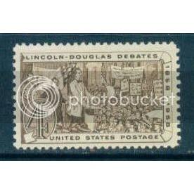 1115 4c Lincoln-Douglas Debate Fine MNH Plt/4 UL 26105 Plt10077
