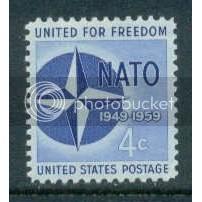 1127 4c NATO Fine MMH Plt/4 LL 26301 Plt02596