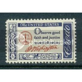 1139 4c Washington Credo Fine MNH Plt/4 LR 26494 Plt02632