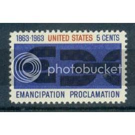 1233 5c Emancipation Fine MNH Plt/4 UR 27468-61 Plt06133