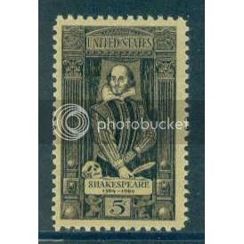 1250 5c Shakespeare Fine MNH Plt/4 LR 27842 Plt17796