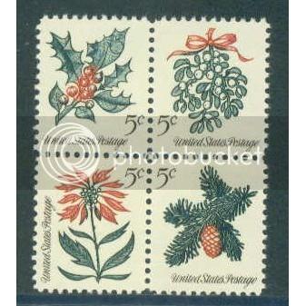 1254-1257 5c Christmas Fine MNH Plt/4 UR 27884 Plt03680