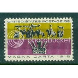 1265 5c Magna Carta Fine MNH Plt/4 LL 28089-83 Plt08682