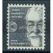 1295 $5 Moore Fine MNH Plt/4 LR 28766 J1026