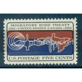 1306 5c Migratory Birds Fine MNH Plt/4 UR 28408-07 Plt00810