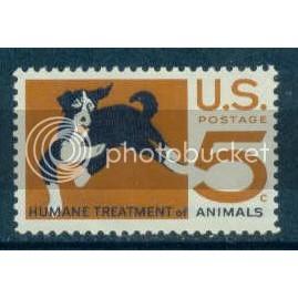 1307 5c Dog Fine MNH