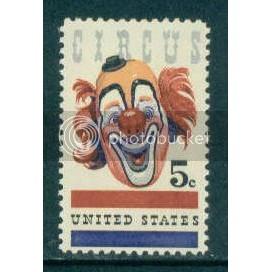 1309 5c Circus Clown Fine MNH Plt/4 UR 28460-50 Plt00752