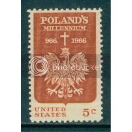 1313 5c Polish Millennium Fine MNH Plt/4 UR 28626 Plt13133