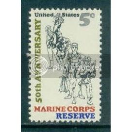 1315 5c Marine Corps Reserve Fine MNH Plt/4 LR 28639 Plt13308