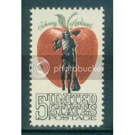 1317 5c Appleseed Fine MNH Plt/4 LR 28719-683 Plt08778
