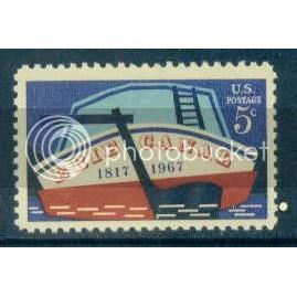 1325 5c Erie Canal Fine MNH Plt/4 LL 28999 Plt00913