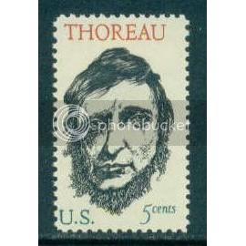 1327 5c Thoreau Fine MNH Plt/4 LR 29148 Plt10345
