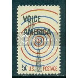 1329 5c Voice of America Fine MNH Plt/4 LR 29052 Plt08808