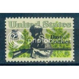 1330 5c Davy Crockett Fine MNH Zip Blk/4 LR Plt10229