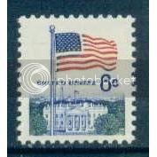 1338D 6c U.S. Flag Fine MNH