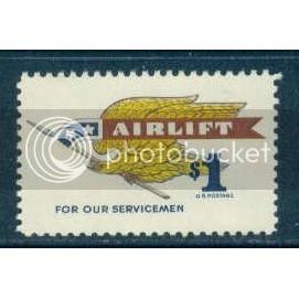 1341 $1 Airlift Fine MNH Plt/4 UR 29763 Plt00964