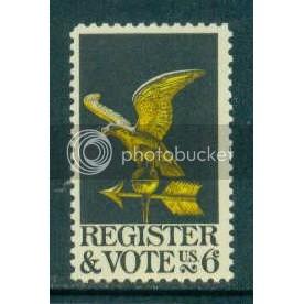 1344 6c Vote Fine MNH Plt/4 LL 29786 Plt03762