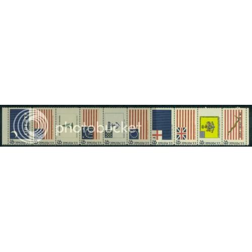 1345-1354 6c Flags Fine MNH Plt/20 UL 30085 PltL5544