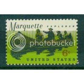 1356 6c Father Marquette Fine MNH Plt/4 UR 30121 Plt17870