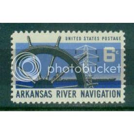 1358 6c Arkansas River Fine MNH Plt/4 UL 30329 Plt02838