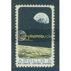 1371 6c Apollo 8 Fine MNH Plt/4 LR 30392 Plt00983