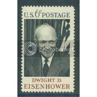 1383 6c Eisenhower Fine MNH Plt/4 LL 31430 Plt13114