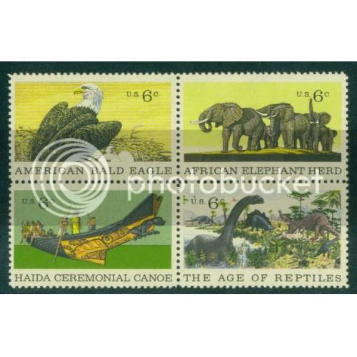 1387-1390 6c Wildlife Fine MNH Plt/4 UL 31889 Plt-18135