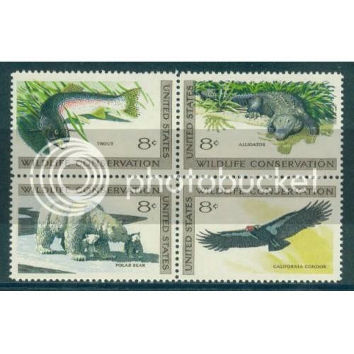 1427-1430 8c Wildlife Fine MNH