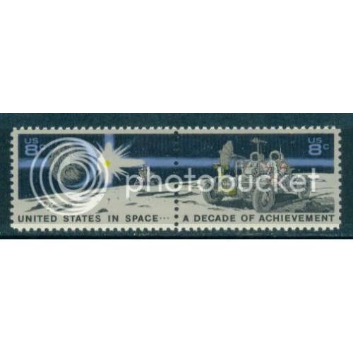 1434-1435 8c Space Fine MNH Zip Blk/4 LL Plt15385