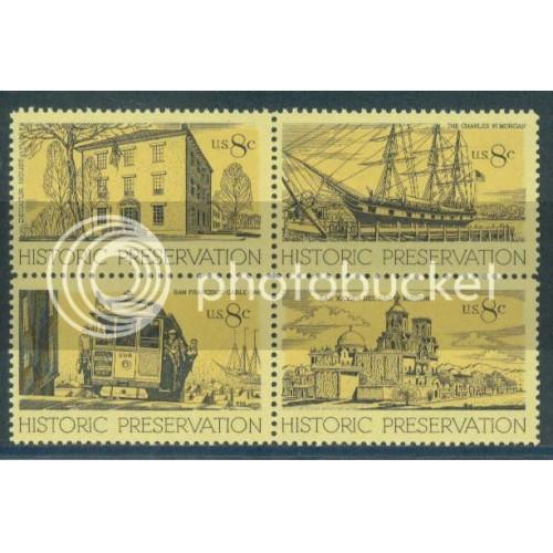 1440-1443 8c Preservation Fine MNH Plt/4 UL 33233 Plt15085