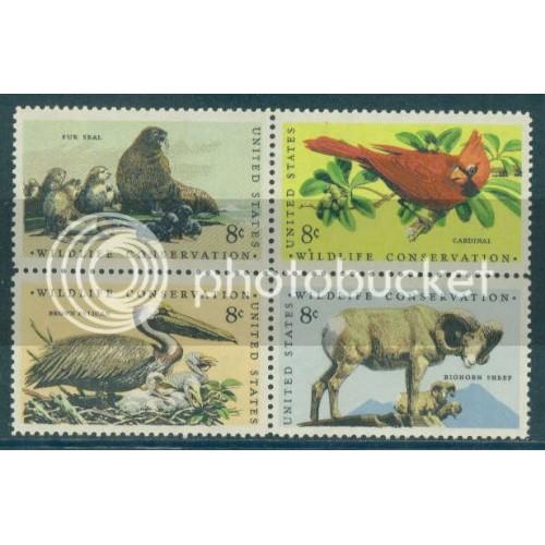 1464-1467 8c Wildlife Fine MNH Plt/4 LR 33758 Plt15118