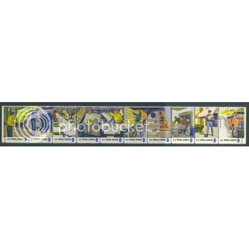 1489-1498 8c Postal Fine MNH Plt/20 LL 34075-79 PltL5615