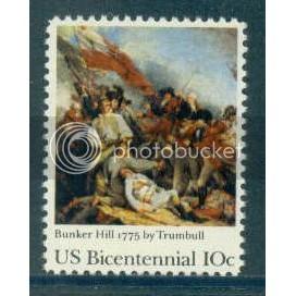 1564 10c Bunker Hill Fine MNH Plt/16 UR 36015-20 PltL5162