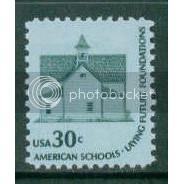 1606 30c School House Fine MNH Dry Gum