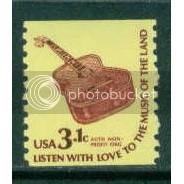 1613 3.1c Guitar Fine MNH Dry Gum