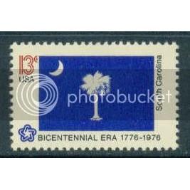 1640 13c South Carolina Flag Fine MNH