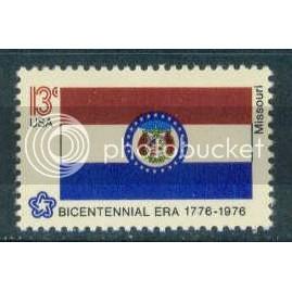1656 13c Missouri Flag Fine MNH