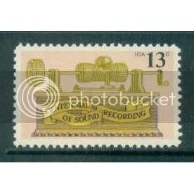 1705 13c Phonograph Fine MNH Plt/4 UR 37865 Plt02845