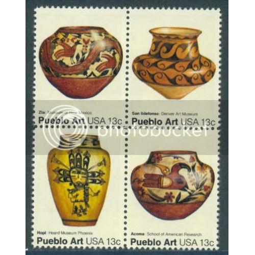 1706-1709 13c Pottery Fine MNH Plt/16 UL 37770-74 PltL5230
