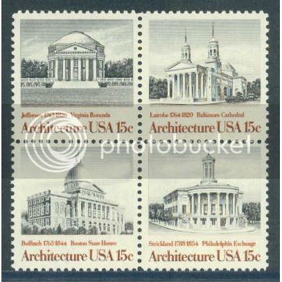 1779-1782 15c Architecture Fine MNH Plt/4 LL 39035 Plt06713