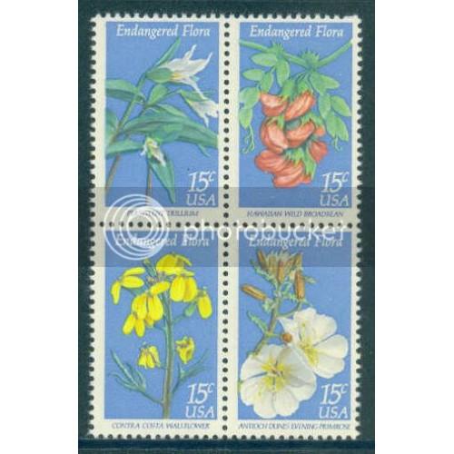 1783-1786 15c Flora Fine MNH Plt/12 UL 39049-54 PltL13926