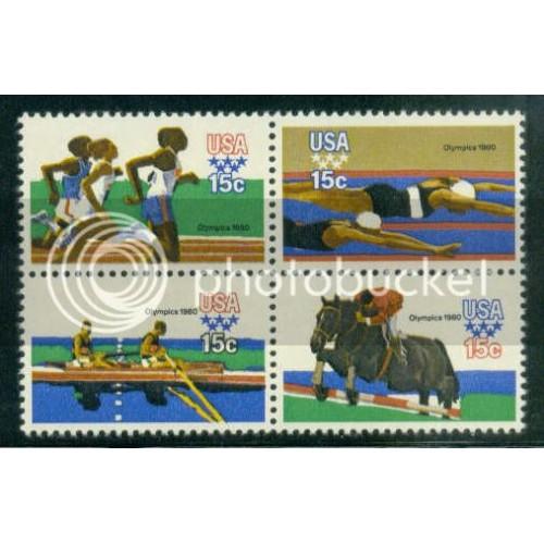 1791-1794 15c Olympics Fine MNH Plt/20 UR 39089-94 PltL14099