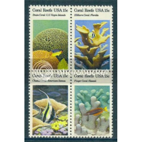 1827-1830 15c Reefs Fine MNH Plt/12 UL 39385-90 PltL5639