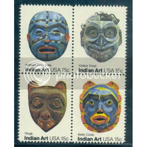 1834-1837 15c Masks Fine MNH Z3019