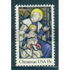 1842 15c Christmas Fine MNH
