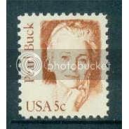 1848 5c Buck Fine MNH Dry Gum Plt/4 UR 3 Plt1703
