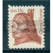 1855 13c Crazy Horse Fine MNH Dry Gum Copy Zip Blk/8 LS Plt13197