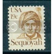 1859 19c Sequoyah Fine MNH Dry Gum Plt/4 UR 39530 Plt15622